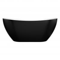 Sierra Black freestanding bath 1500mm
