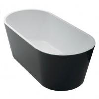 AKEMI Black Oval Freestanding bathtub 1700mm