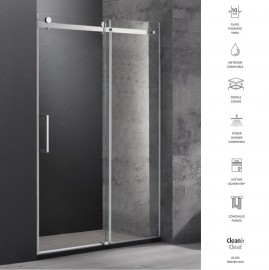 Acqua Wall to Wall Frameless Roller Shower Screen