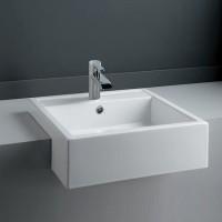 460×460×170mm Semi Recessed Basin