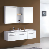 1200 mm Luxury Double Bowl Wall Hung Vanity With Handle